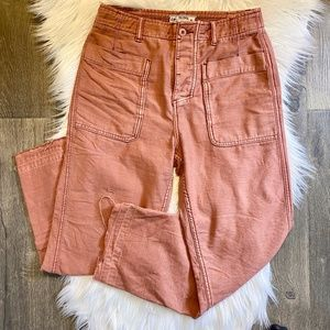 Free People Boyfriend Fit Rust Rose Cargo Pant